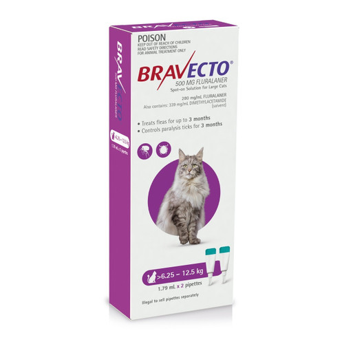 Bravecto Spot On For Cats Purple 6.25kg - 12.5kg