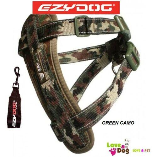 Ezydog Chest Plate Harness Green Camo