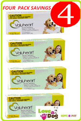 Valuheart Monthly Heartworm Preventative tablet 6 months treatment per pack. 4 pack = 24 tablets