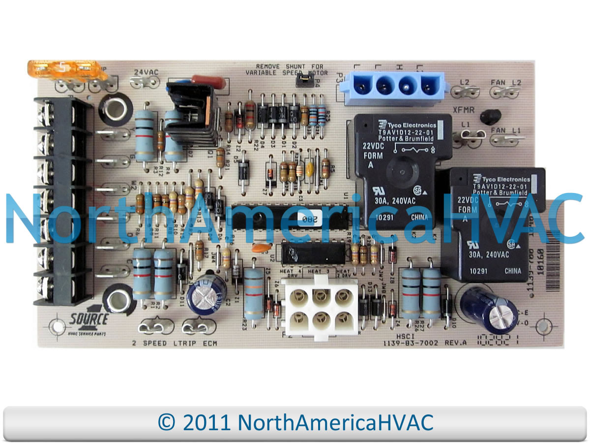 York Luxaire Coleman Furnace Control Circuit Board 031-01264-002 S1 on