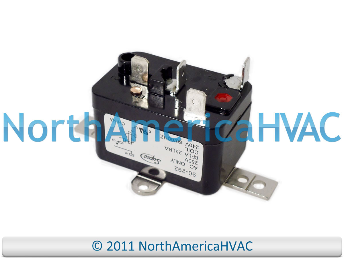 White Rodgers Mars Furnace Fan Blower Relay- 240 volt 90-292Q 90292Q on zone valve wiring, car relays wiring, switching relay terminals, switching relay heating, timer switch wiring, momentary switch wiring,