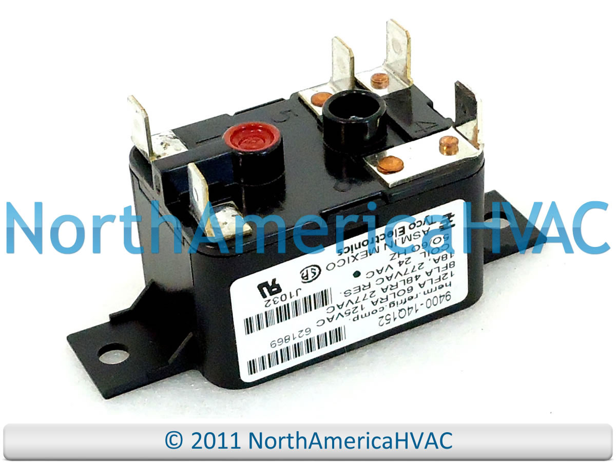 Tyco Electronics Furnace Blower Motor Relay 24 volt 9400-14Q152 on