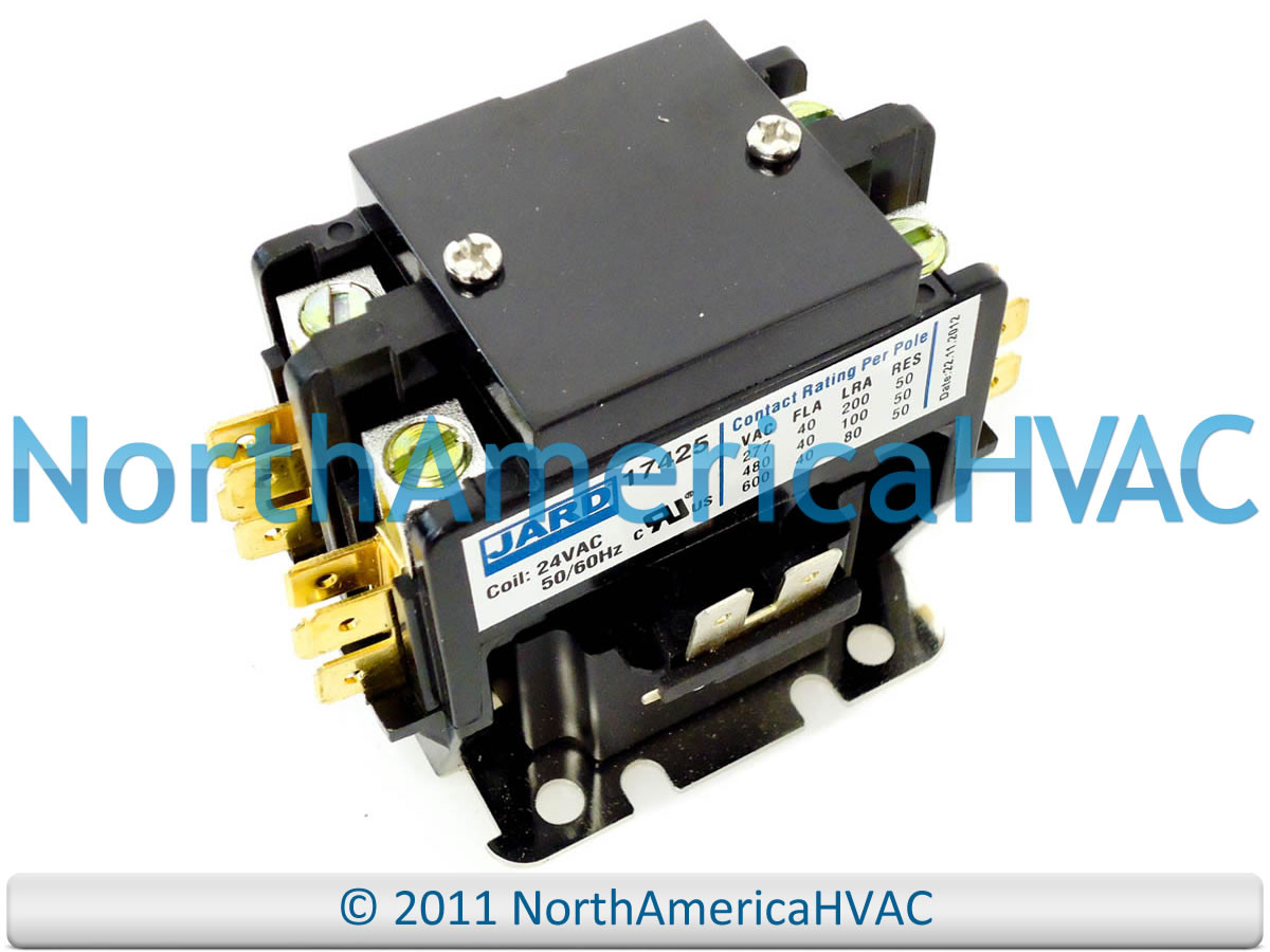 Rheem Ruud Weather King 24v 2 Pole 40A Contactor Relay 42-42139-02 RES-530