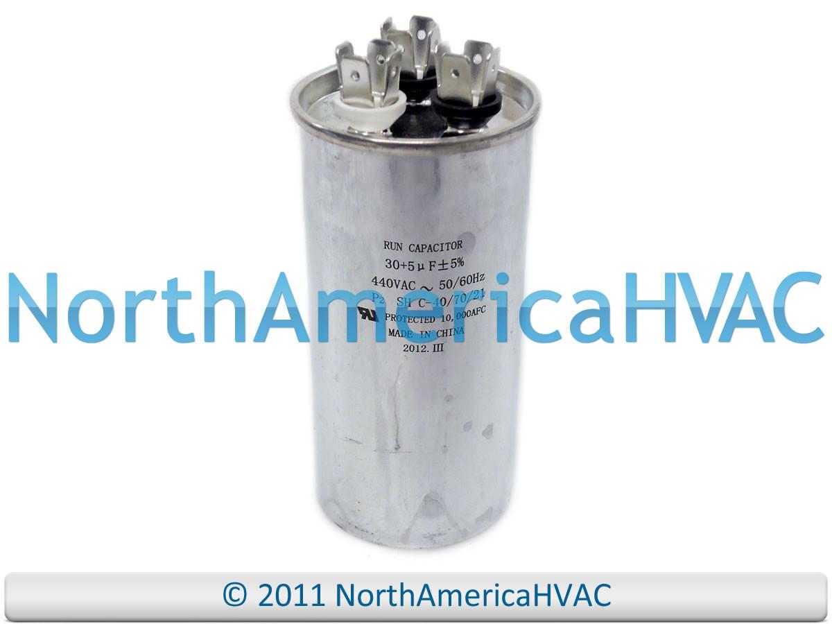 NEW Motor Round Dual Run Capacitor 30 + 5 uf MFD 370 Volt Packard PRCD305 -  ClimaTek