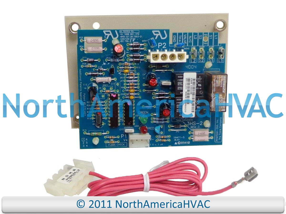 Kit08282 Trane American Standard Furnace Control Circuit Board Kit Main Honeywell Rheem Ruud Heat X13130453 01