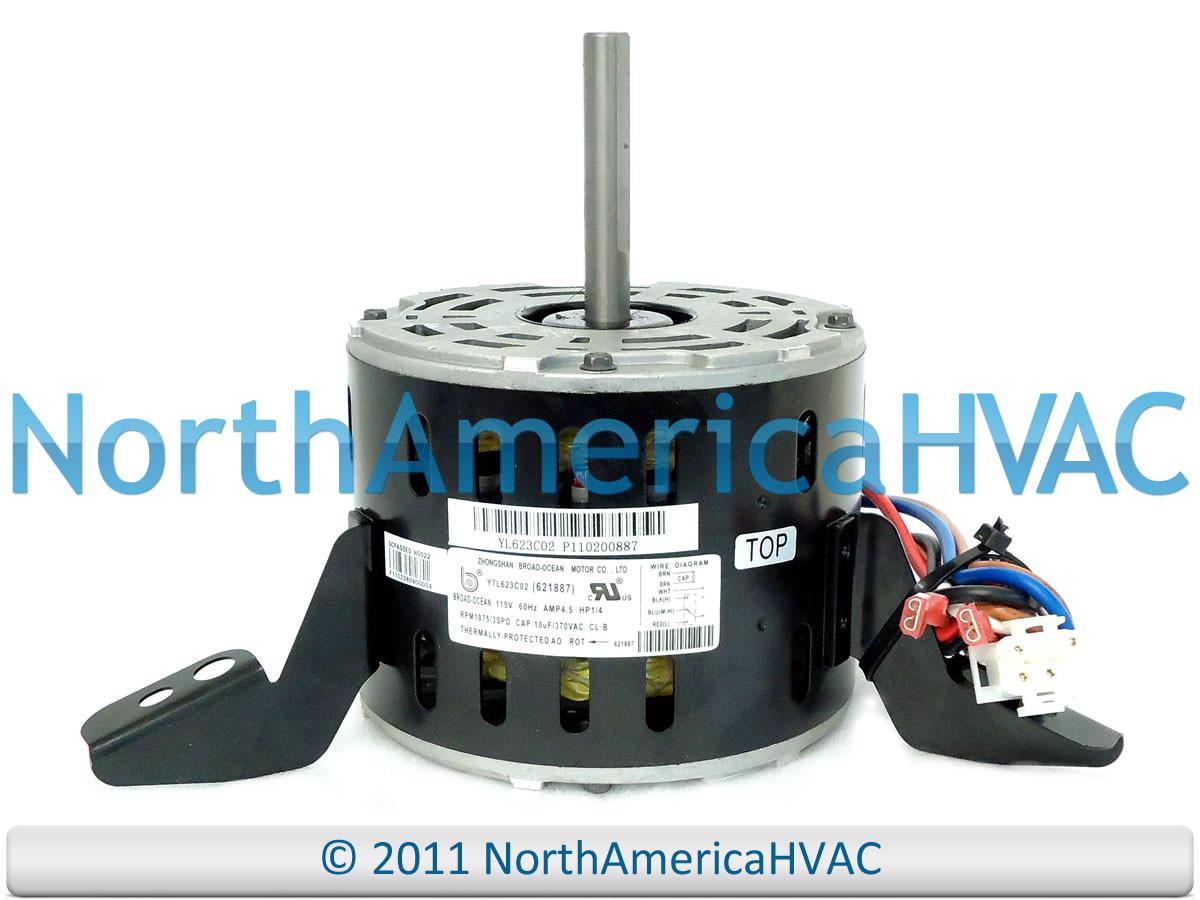 intertherm nordyne miller furnace blower motor 1/4 hp 621887 6218870   621887 621887r 6218870