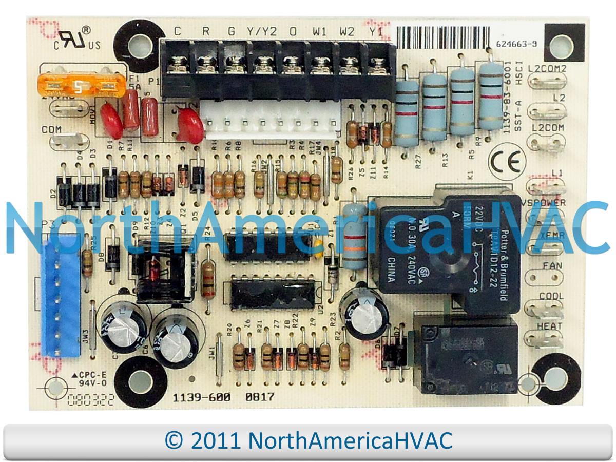 Honeywell Furnace Control Board 1139-83-6001 1139-600 on