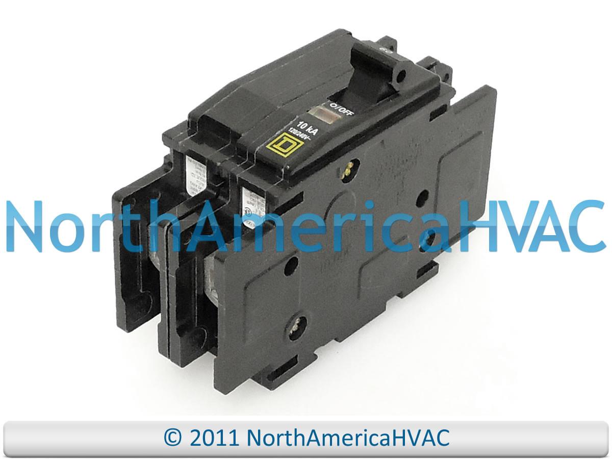 HH83XD245 - Carrier Bryant Payne Furnace Circuit Breaker 45 Amp 2 Pole  QOU245