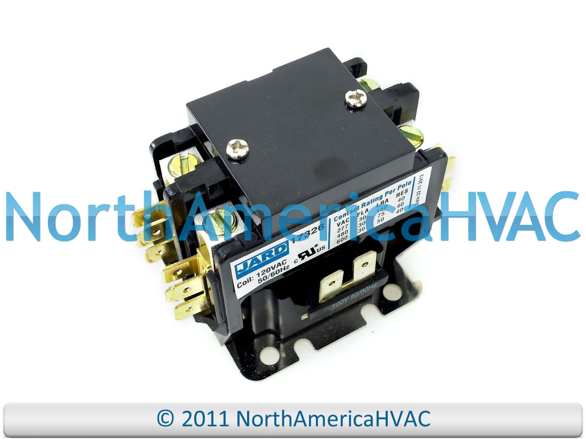 Double 2 Pole 30 Amp 120 volt Contactor Relay Sie Furnas GE ... on