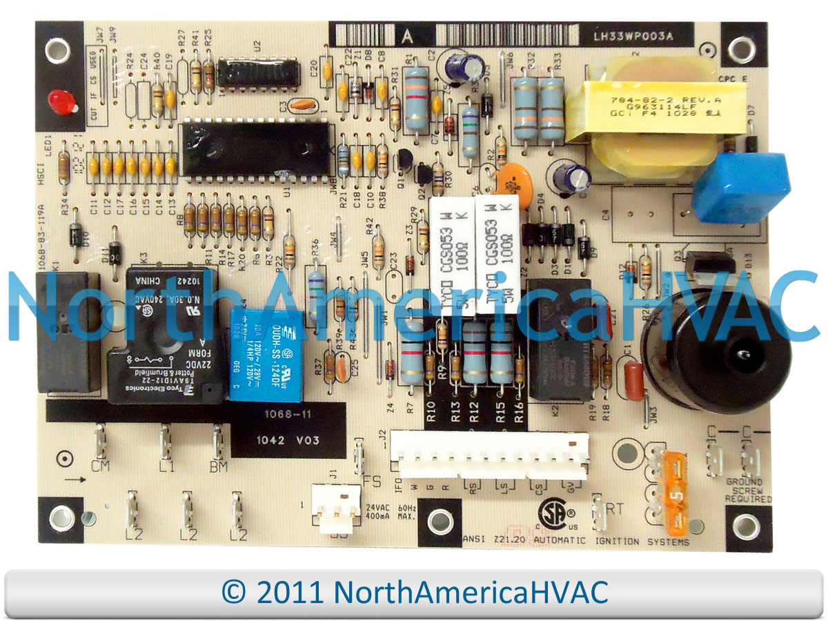 Oem Carrier Bryant Furnace Control Circuit Board Lh33wp003 Main Honeywell Rheem Ruud Heat Lh33wp003a