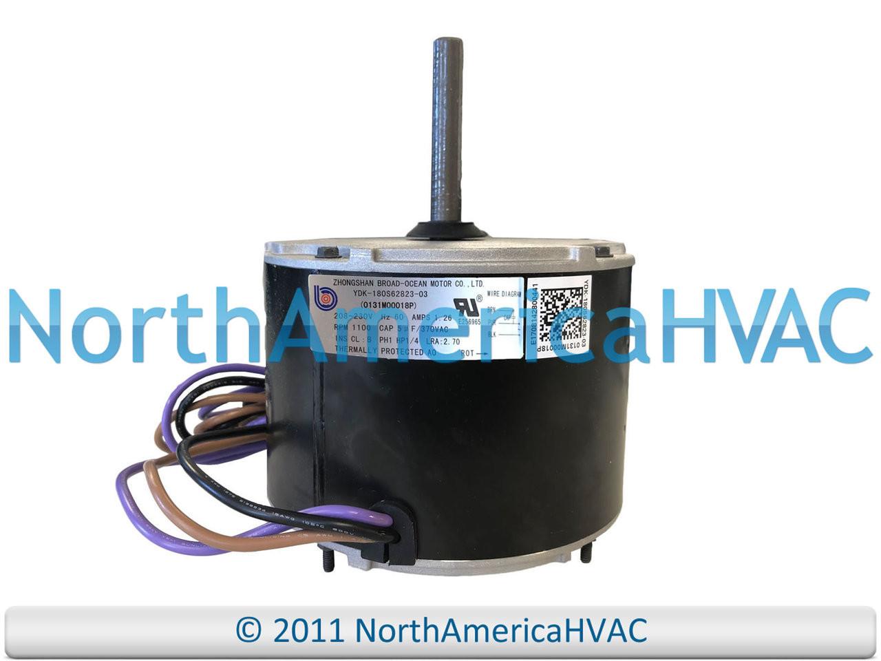 Fan Motor Replacement On Universal Condenser Fan Motor Wiring