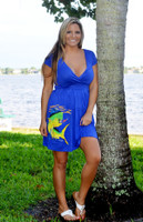 Royal Blue dolphin fishing dress