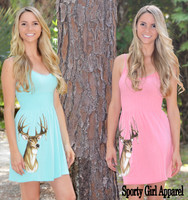 Coral and Mint Deer Hunting Dresses onesize with straps