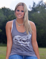 XL only left in stock Gray Gator loose fitting tank top