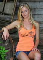 LARGE and XLARGE left-Hog Hunting Neon Orange Womens Tank Tops