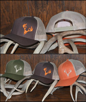 Khaki Snap back deer skull cap