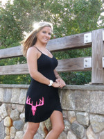 ONESIZE FITE SOME STRAP Black Neon Pink Deer Skull 50% OFF