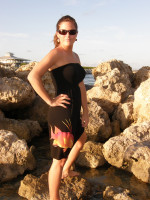 BLACK ONESIZE fits some STRAPLESS hogfish dress
