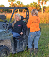 BLACK WITH PINK Hog Hunting pocket long sleeve shirt