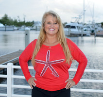 XL LEFT in stock  RED Off Shoulder long sleeve Starfish top