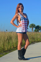 LOOSE fitting american flag tank top