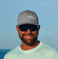 Seafoam TUNA gray flexfit fitted hat