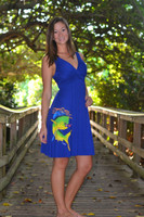Fancy Royal Blue Dolphin  dress