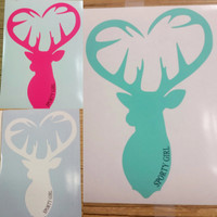 MINT only left Buck Head heart decal