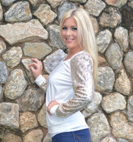 Gold glitter sleeve long sleeve holiday sweater