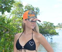 neon orange camo snook hat