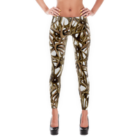 White Antler leggings  Full Length or Capri