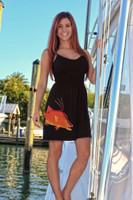 Black hogfish onesize with straps dress
