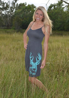 Longer length one size gray with mint buck