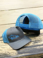Blue / Charcole  SNOOK  Mesh Back  adjustable hat