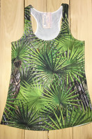 Sporty Girl Palmetto camo racerback tank top