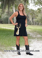 SMALLS ONLY Cute Country Black Deer Dress