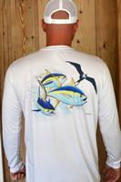 Frigate and yellowfin tuna sunshirt