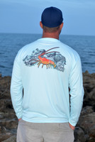 Lobster with reef mens sunshirt
