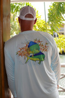 Painted mahi mens sunshirt