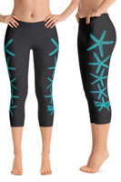 Starfish with crystals cropped legging
