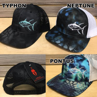 Tuna fishing mesh back Kryptic snap back hats