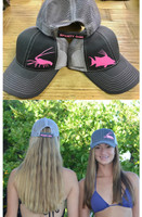 Gray velcro back with  Pink Glitter Lobster  or Hogfish hat