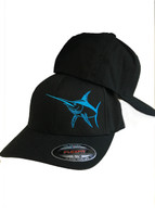 Mens Swordfish flex fit  soild black hat