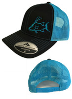 Hogfish Black and Blue mesh and snapback