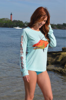 UPF50+ women's fitted hogfish sun shirt /dive shirt