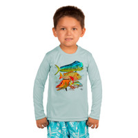 Toddler sunscreen UPF50+ mixed fish design