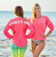SPORTY GIRL(glitter) CORAL EVERYDAY long sleeve
