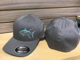 soild gray flexfit tuna hat