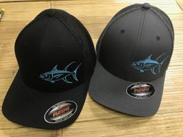 7ffadb9bd04ea Mesh Back flexfit Yellowfin tuna fishing hat -onesize