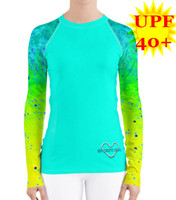MINT Mahi Mahi UPF 40+ fishing diver rash guard